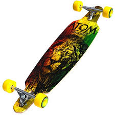Atom Longboards 36-Inch Drop Through Rasta Lion Longboard Review