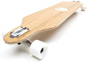 White Wave Pintail Bamboo Longboard