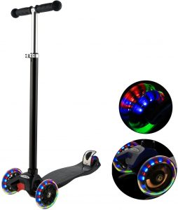 Hikole Scooter for Kids with 3 LED Wheels